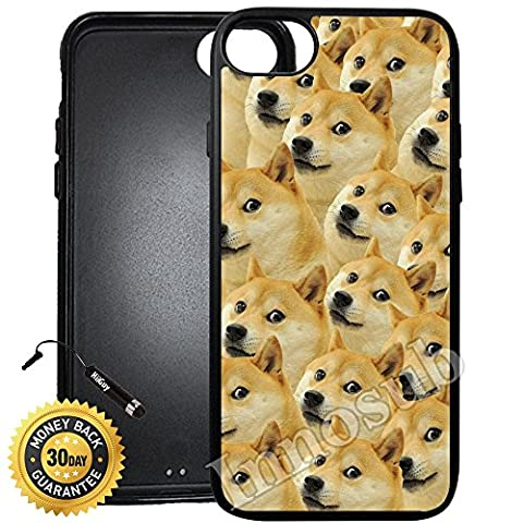 Custom iPhone 7 Case (Mr Doge MEME) Edge-to-Edge Rubber Black Cover with Shock and Scratch Protection | Lightweight, Ultra-Slim | Includes Stylus Pen by (Doge Phone Cover)