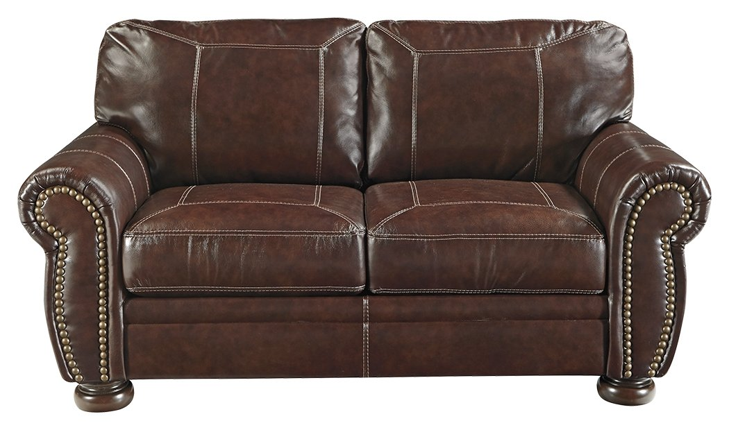 Signature Design by Ashley 5040435 Banner Loveseat, Coffee