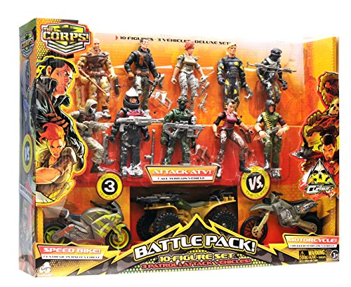 The Corps Lanard Special Forces Action Figures and Vehicle Deluxe Playset