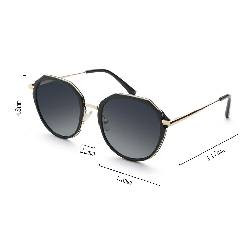 e14717970489 Amazon.com: CJJC Women's Oversized Polarized Sunglasses Fashion Metal Frame  Polygon Sunglasses for Driving/Holidays/Shopping Use,Ladies Present: Sports  & ...