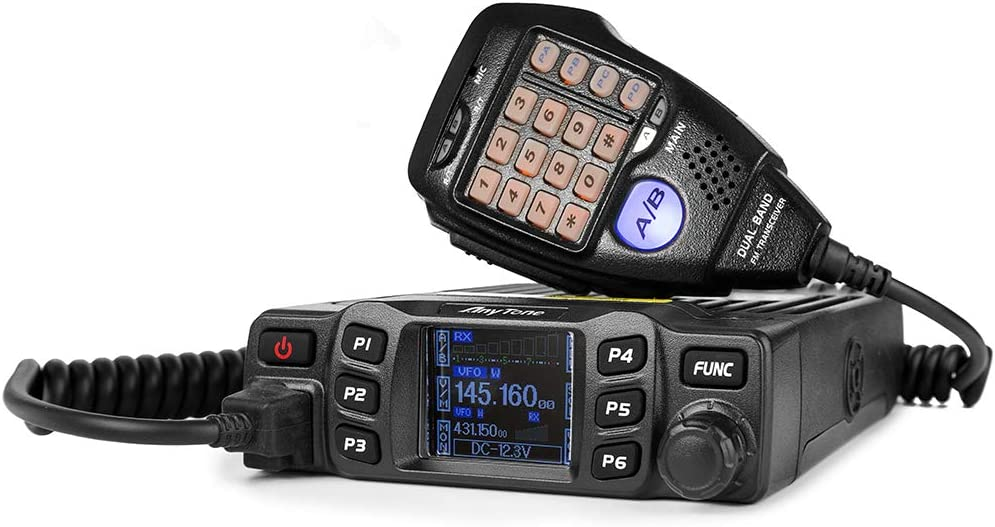 AnyTone AT-778UV Mini Dual Band Mobile Radio UHF/VHF 400-490/136-174MHz Two-Way Radio Transceiver Compact Amateur Car Radio