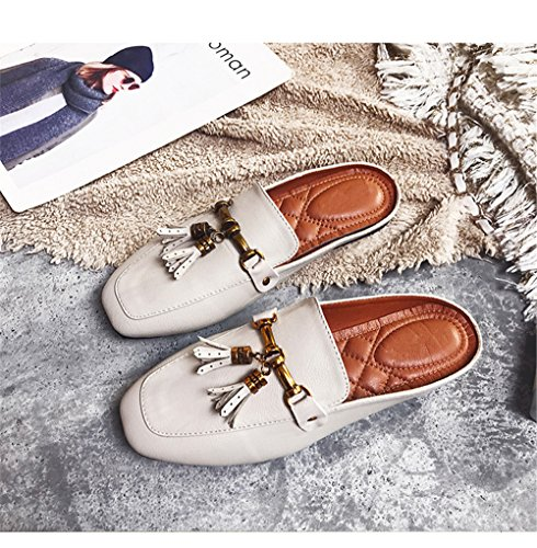 Flat pit4tk Mules Slippers Summer Beige Toe Female Women Slides Shoes Casual Outdoor Fashion Pointed 0rpA0xq