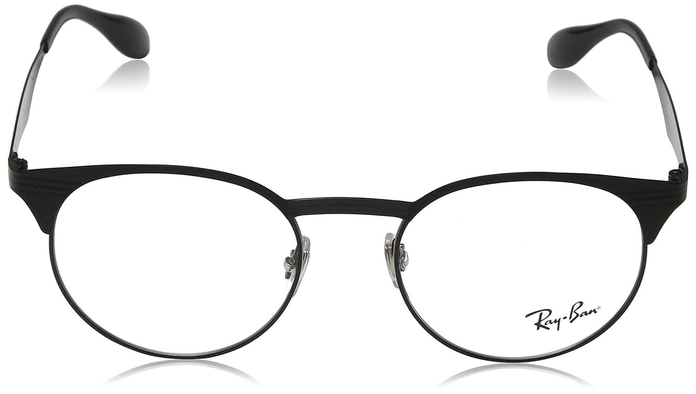 9f66d32772b Amazon.com  Ray-Ban Unisex RX6406 Eyeglasses Black Matte Black 49mm   Clothing