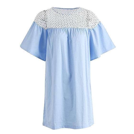 Xanthedoris Elegante bordado patchwork vestido casual NEW Mulheres O pescoço solto vestido curto streetwear Verão vestido