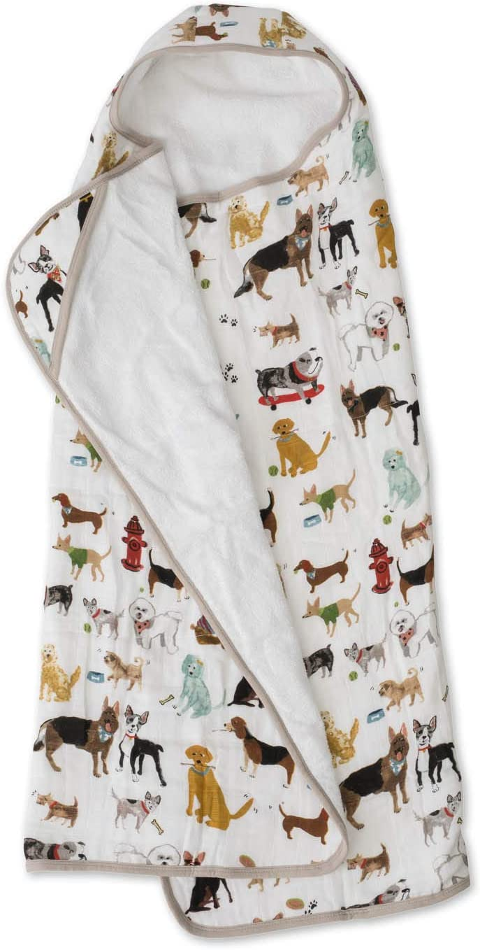 """42/"""" Tall x 47/"""" Wide Little Unicorn Large Cotton Hooded Towel 100/% Cotton Bison Unisex for 2-5 Year Olds Absorbent /& Plush Feel Printed Pockets Playful Designs Machine Washable"""