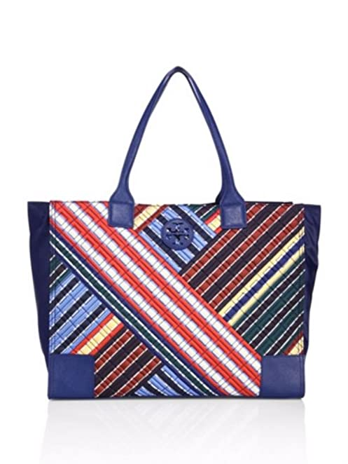 Amazon.com: Tory Burch Ella Quilted Nylon Tote, Blanket Stripe: Shoes : tory burch quilted tote - Adamdwight.com