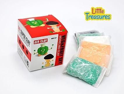 Amazon Com Veggies Fruit Molding Play Dough Kit 2 In 1 Create