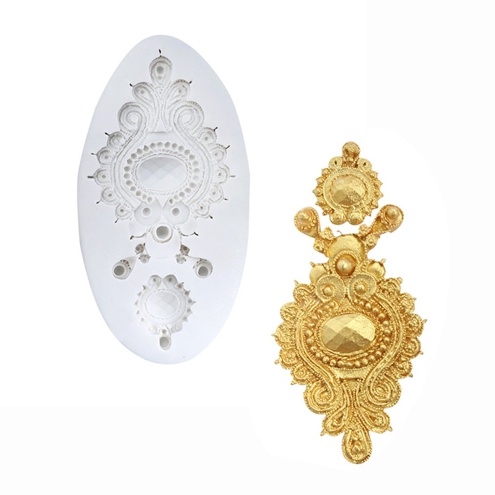 Jewelry Mold Gemstone Wedding Cake Decorating Tools Kitchen Sugar Paste Baking Mould Cookie Pastry Gum FTMJ21041