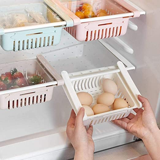 Augproveshak 2 Piezas Cesta de Almacenamiento del refrigerador ...