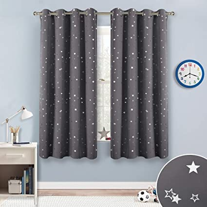 Amazon.com: RYB HOME Twinkle Star Blackout Curtains for Kids Bedroom ...