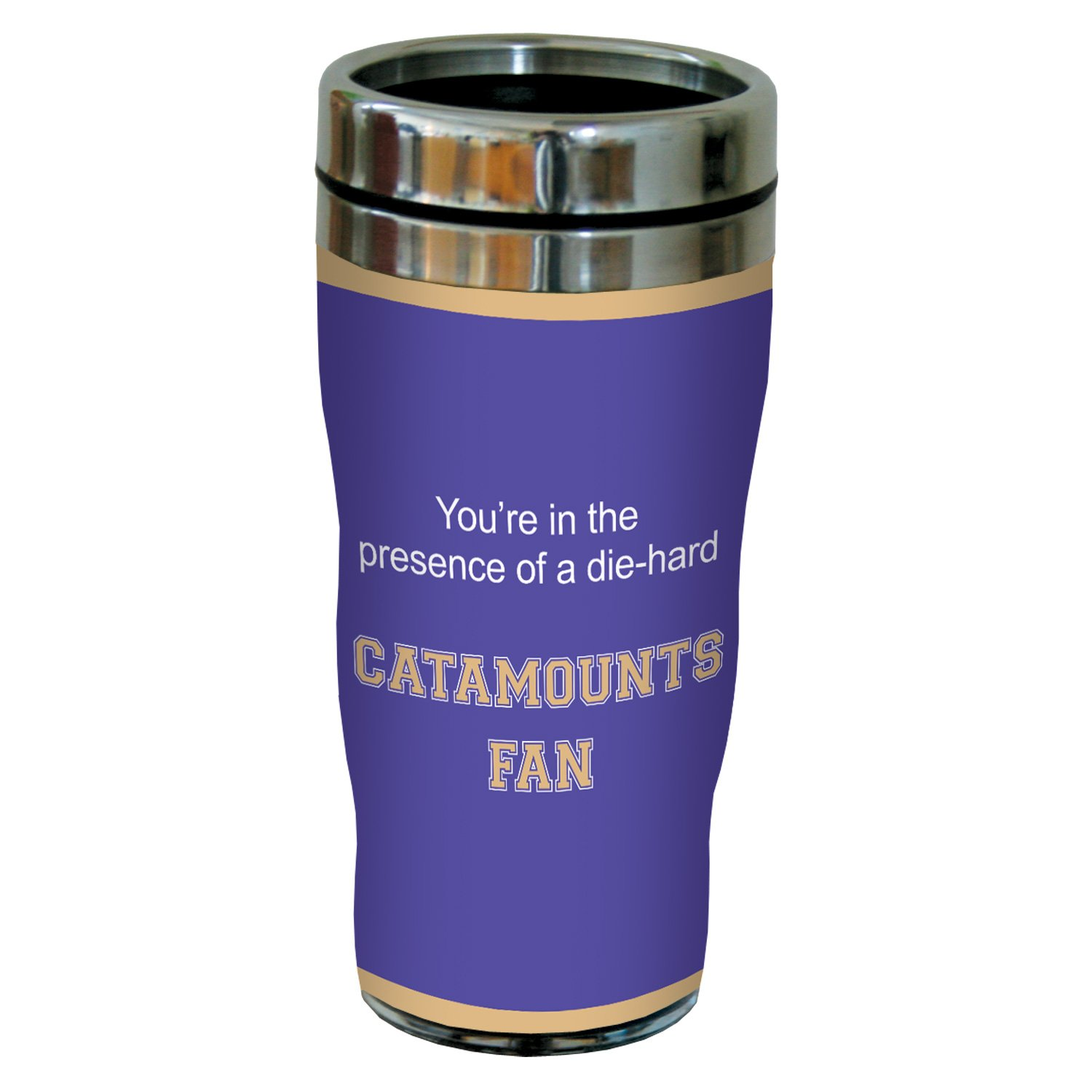 16 Ounce Tree-Free Greetings sg24952 Catamounts College Basketball Sip N Go Stainless Steel Lined Travel Tumbler