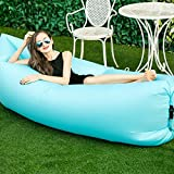 Outdoor Inflatable Lounger Couch, Portable Blow Up Lounge Chair, Pool Air Hammock, Hangout Lazy Sofa, Waterproof Wind Breeze Bean Bag, Fast Inflate Lounger for Travel, Camping Adult/Kids (Blue Sky) offers