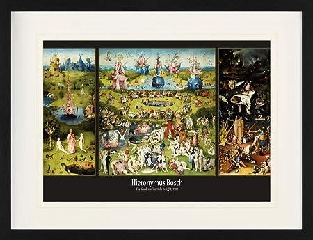 1art1 El Bosco - El Jardín De Las Delicias, 1500 Póster De Colección Enmarcado (80 x 60cm): Amazon.es: Hogar