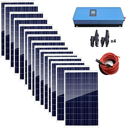 AUECOOR Grid-Tied Solar System Kit
