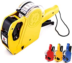 Price Gun, MUXAN Labeling Machine 8 Digits Price Numerical Tag Gun Handheld Pricing Labeller MX5500 EOS Plastic Label Maker for Office Retail Shop Grocery Store Organization Marking