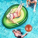 Jojoin-Avocado-Gonfiabile-Gigante-Piscina-Galleggiante-Giocattolo-Estate-per-Bambini-e-Adulti-Giocattolo-per-Festa-in-Valvole-Rapide-Lettini-e-Giochi-Gonfiabili