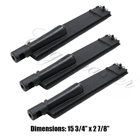 Edgemaster Pack of 3 Replacement Cast Iron Burner for Turbo, Aussie, and Sams Grills