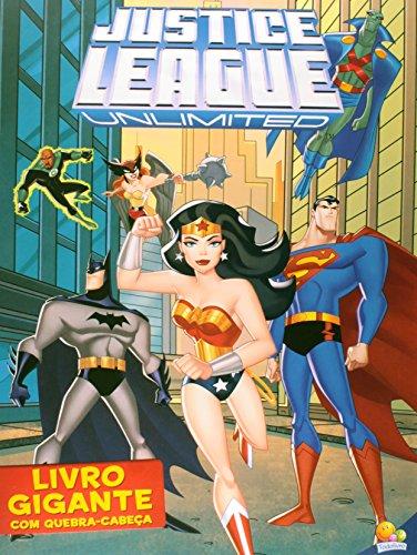 Livro Gigante com Quebra- Cabeça. Justice League Unlimited