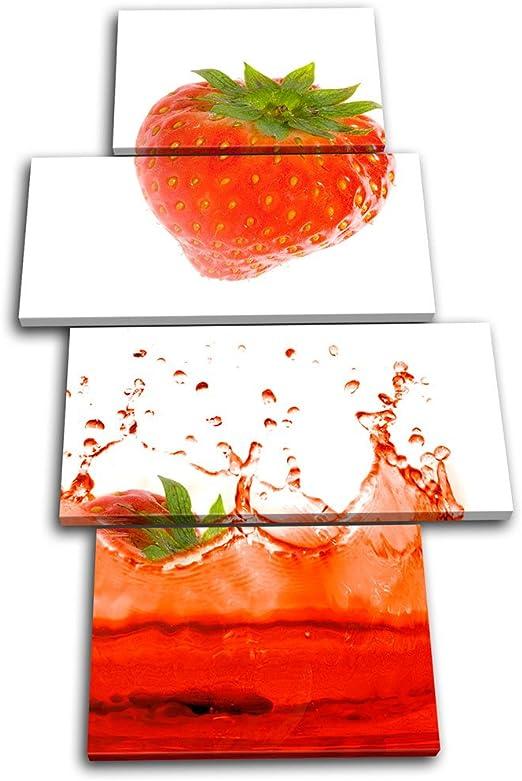 Food Box Canvas Print Fruit Splash Art Print