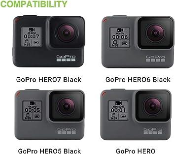 ideal f/ür die Reise oder Aufbewahrung- Komplettschutz gro/ße 34x24x7cm Digicharge/® Kamera und Zubeh/örtasche f/ür GoPro Hero7 7 HERO6 6 4K HERO5 HERO 4 Session Mini Hero 5 4 3+ 3 2 1 Session Kameras Schwarz