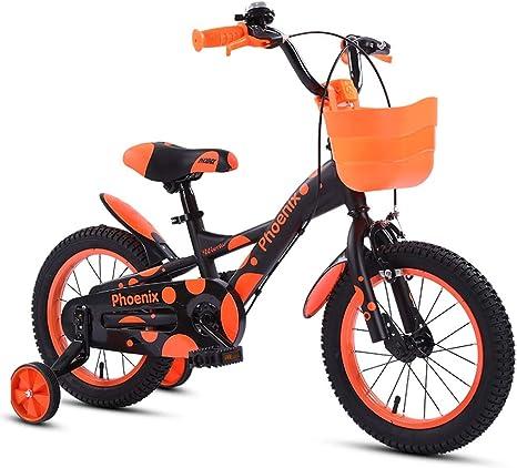 TSDS Bicicleta Infantil de 18 Pulgadas Bicicleta Verde/Naranja ...