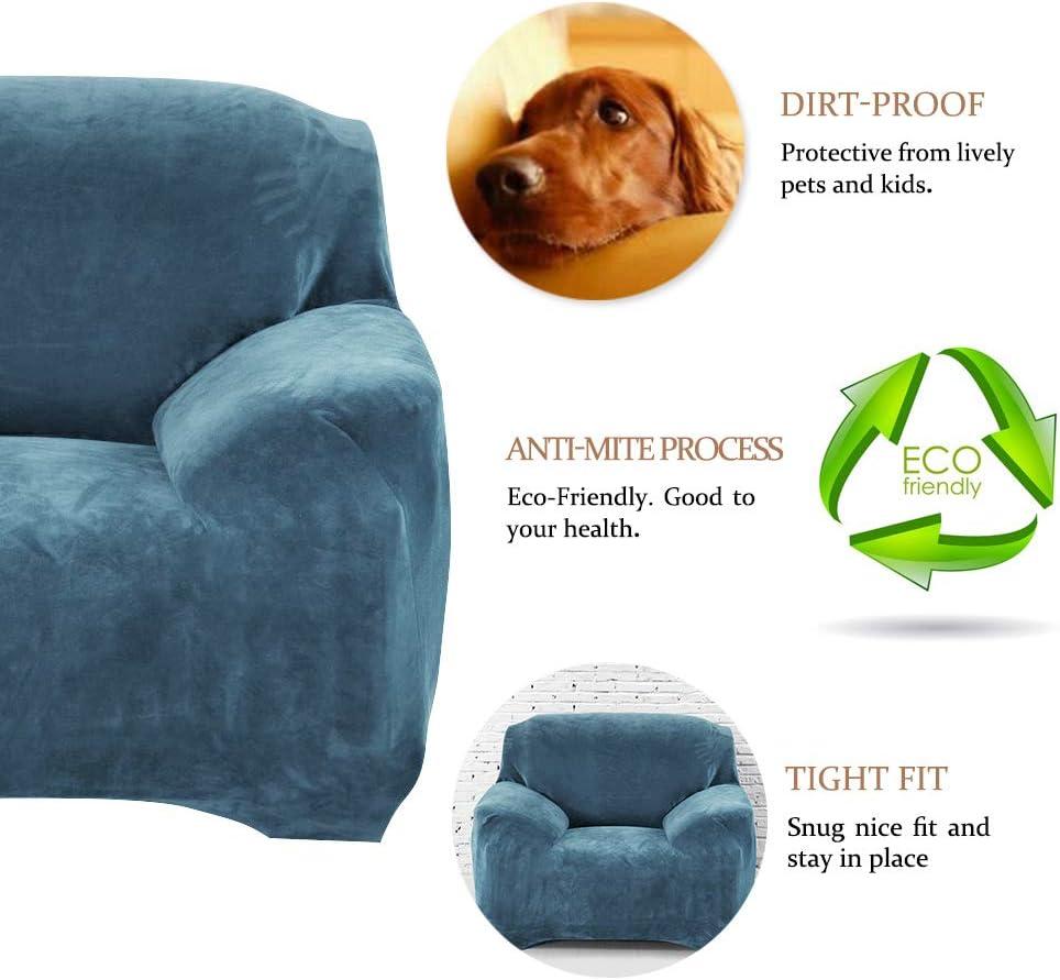 Dandelionsky Thick Velvet Sofa Cover 1 2 3 Seater Sofa