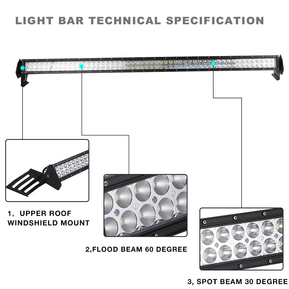 roof rack mount bracket   54 u0026quot  inch led light bar fits 2010