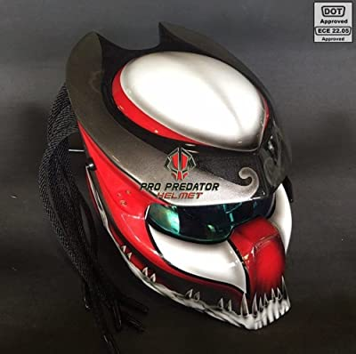 Pro Predator Motorcycle DOT Approved Helmet HD Style include Tri Laser SY35
