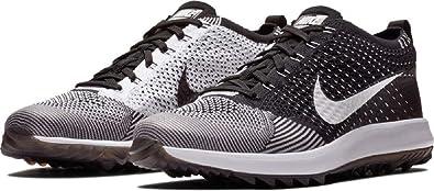 timeless design f12c6 ad9d1 Nike Men s Flyknit Racer G Golf Shoes (7 M US, Black White)