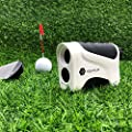 PEAKPULSE 6Pro Slope Golf Rangefinder, Golf Laser Range Finder with Slope Compensation, Flag Acquisition Technology, Pulse Vibration and Fast Focus System, Perfect for Golfers of All Abilities.