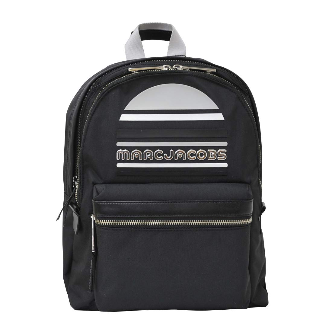 MARC JACOBS TREK PACK LARGE LOGO BACKPACK BLACK M0014034-001 [並行輸入品]   B07NQDX161