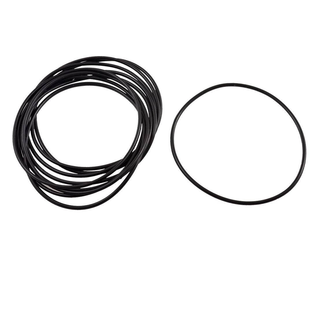 10 Pcs Black Rubber Oil Seal O Ring Sealing Gasket Washer 58mm x 1.8mm Sourcingmap a12100800ux1111
