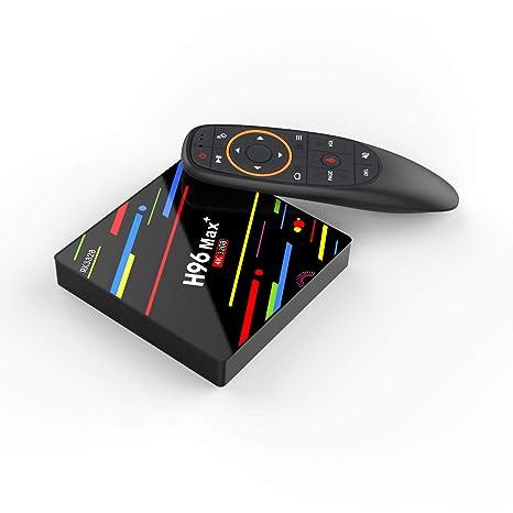 tv box android 8.1 4gb 64 gb telecomando vocale  H96 max Plus, Android 8.1 OS TV box, 4 GB RAM 32 GB ROM, RK3328 Quad ...