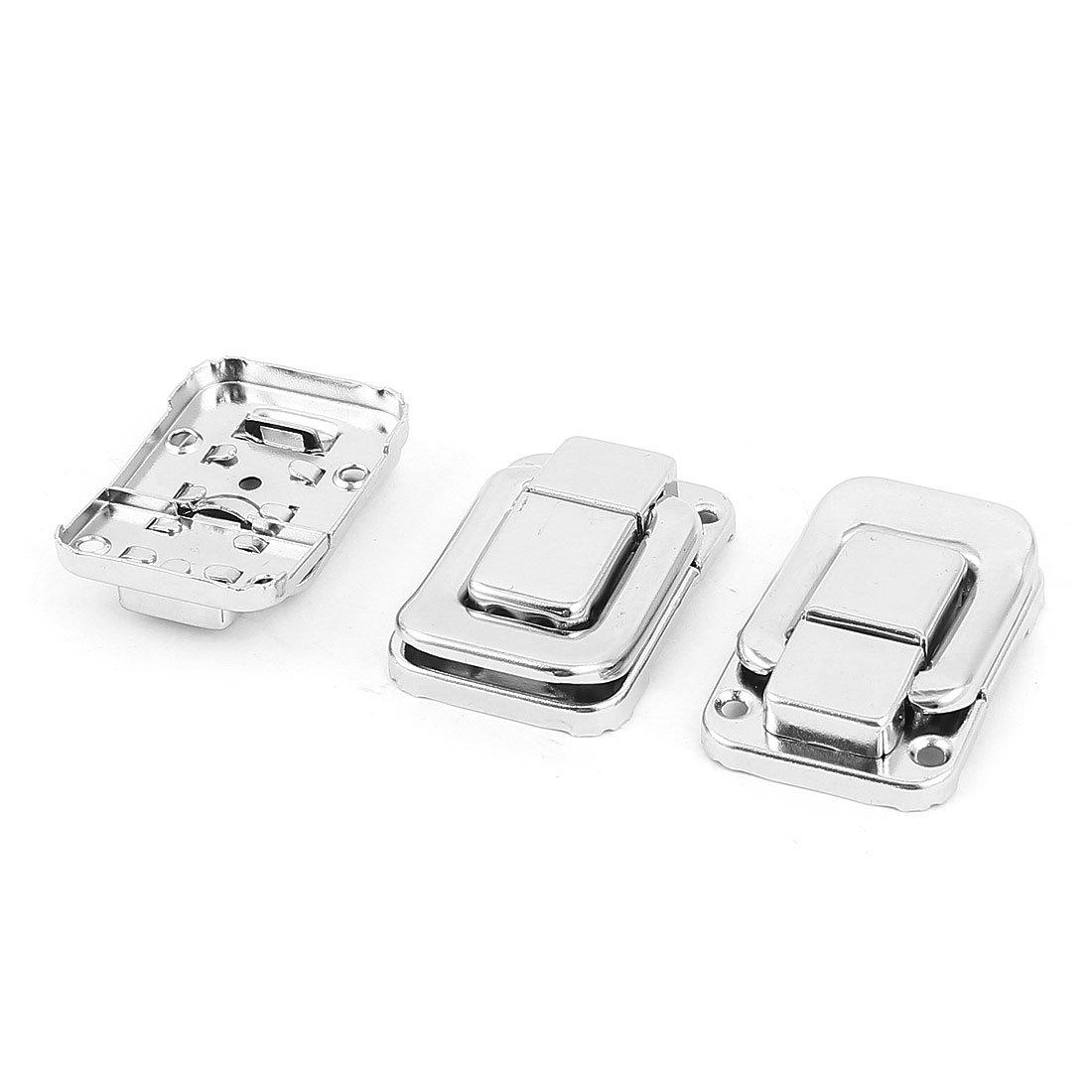 3 St/ück 49mm x 33mm Gep/äck Koffer Brust Metall Umschalten Fang Verriegeln Silber de