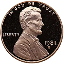 1981 S Gem Proof Lincoln Memorial Cent Penny Proof US Mint