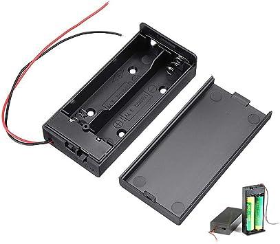 BliliDIY 18650 Caja De Batería Batería Recargable Junta con Interruptor para 2X18650 Baterías Kit De Bricolaje Estuche: Amazon.es: Electrónica