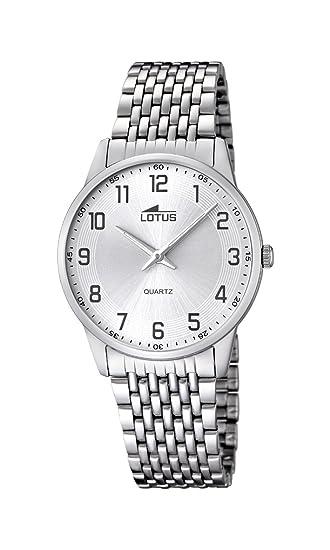 Lotus 15887/1 - Reloj de Pulsera Hombre, Acero Inoxidable, Color Plateado: Amazon.es: Relojes