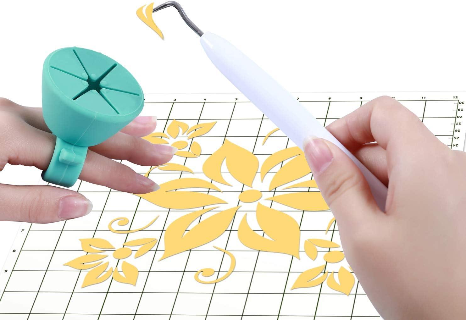 2 Pack Random Color Craft Weeding Vinyl Tools Accessories Remove Scraps for Cricut Silhouette Basic Tool Set
