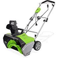 Greenworks 20-Inch 13 Amp Corded Snow Thrower 2600502 (Renewed)