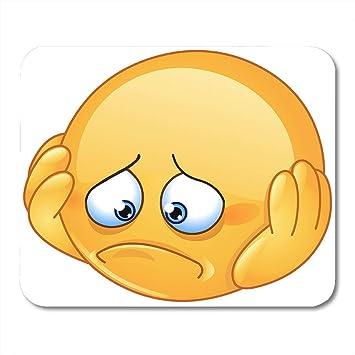 Luancrop Almohadillas para Mouse Emoji Amarillo, deprimido y ...