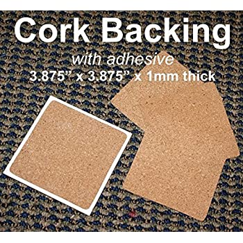(Ship from USA) Cork Backing with adhesive for ceramic tile coasters *JPOU842H5ET12521