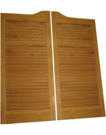 Beau Pre Stained (ready To Install) Cafe Doors Louvered Pre Fit For 30