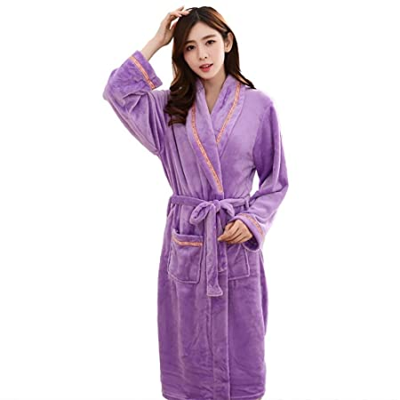 SEX Ladies Flannel Bathrobe Autumn And Winter Long Sleeves Thick Warm  Pajamas  7d2655235