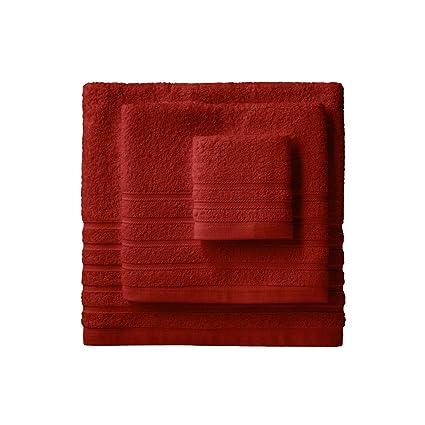Barceló Hogar 05040010020 Juego de 3 toallas para bidé, lavabo y ducha, modelo Diamante