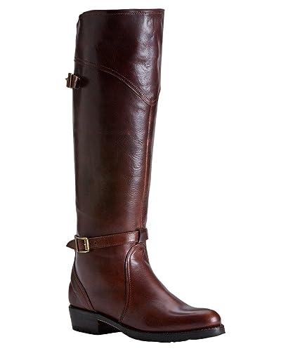 496652b7c7b Frye Women's Dorado Lug Riding Boot Round Toe Whiskey 8.5 M US ...