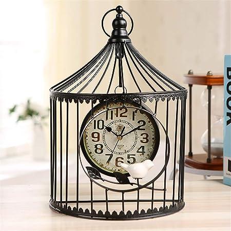 FENGCLOCK Reloj de Mesa clásico Europeo Europeo de Jaula de ...