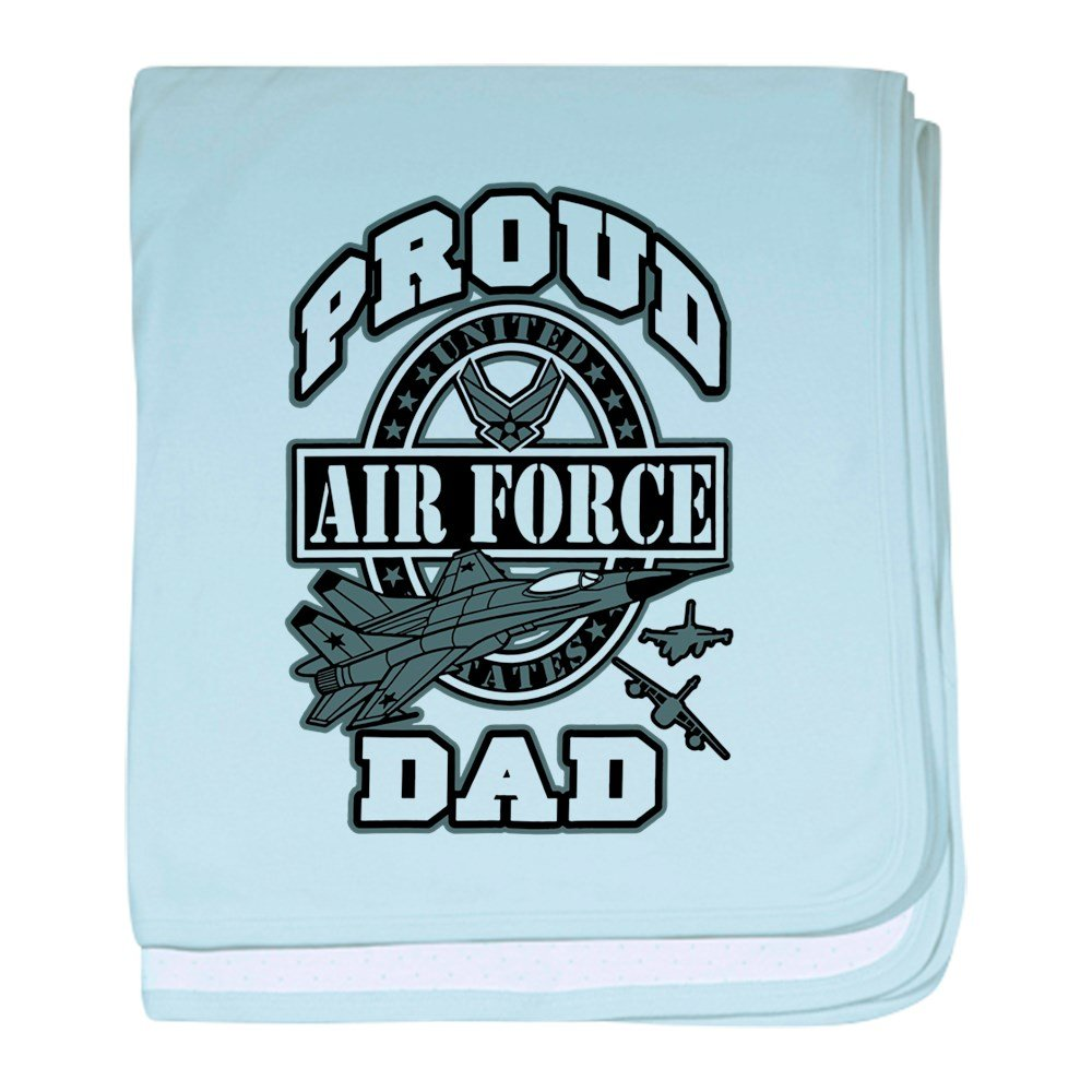Royal Lion Baby Blanket Proud Air Force Dad Jets - Sky Blue
