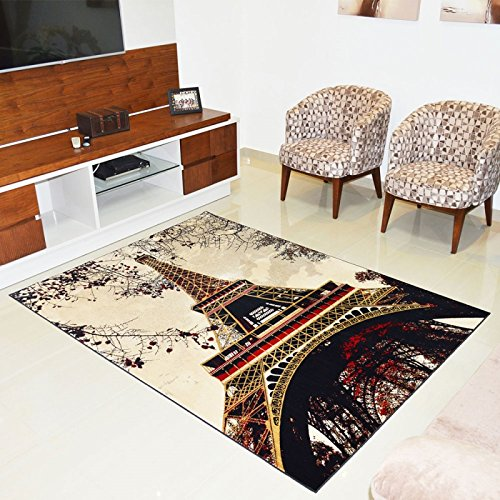 Tapete veludo Marbella Epic Art Torre Eiffel 98 X 150cm - Rayza Tapetes