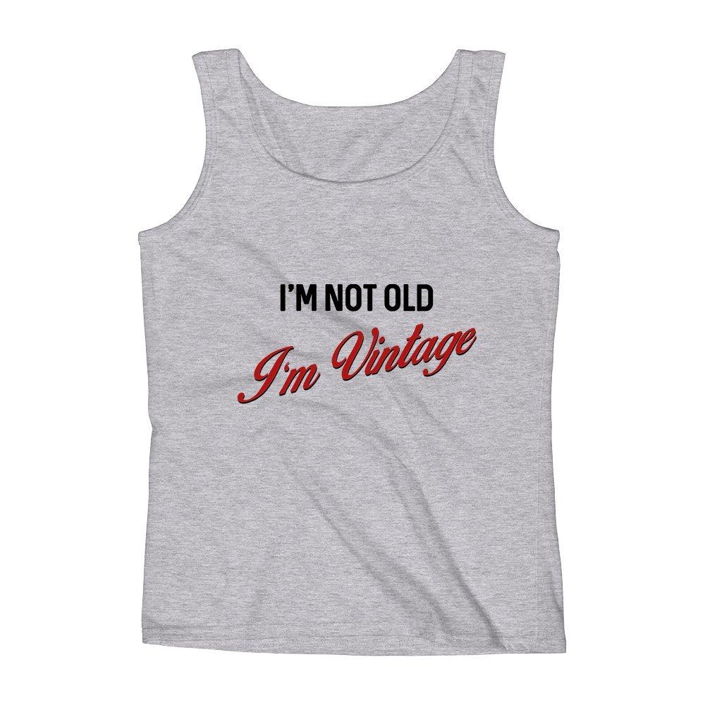 Mad Over Shirts Im Not Old Im Vintage Unisex Premium Tank Top