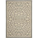 Cheap Safavieh Courtyard Collection CY2098-3606 Grey and Natural Indoor/Outdoor Area Rug (8′ x 11′)